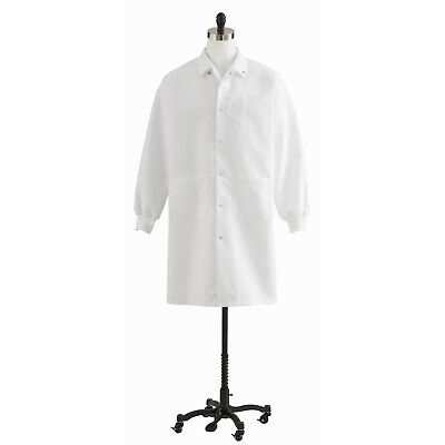 Medline Unisex Knit Cuff Knee Length Lab Coat, White (Size XS-3XL) - 87026QHW