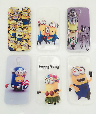 Despicable me minions Ultra Slim Clear Soft TPU Rubber case cover Samsung Galaxy