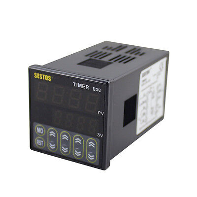 100-240V Digital Quartic Timer Relay Time Delay OMRON Relay CE B3S-2R-220