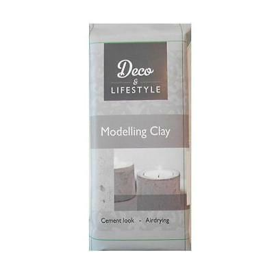 Deco & Lifestyle Air Dry Modelling Clay - Cement Look 500g