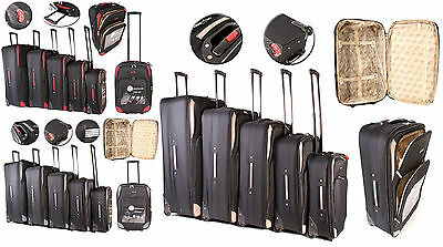 New Extra Large Medium Small Cabin Travel Trolley Luggage Suitcase Bag Case Set