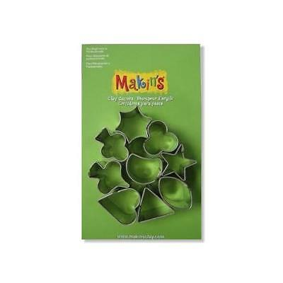Makin's Clay & Sugarcraft Cutters Set - 9pcs Mini Geo