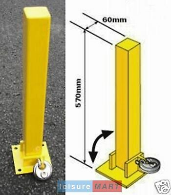 Security parking post fold down padlock, bolts included Maypole MP9737
