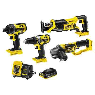 Stanley Fatmax 18V 4-Piece Kit – Drill Driver, Impact Driver, Grinder, Saw