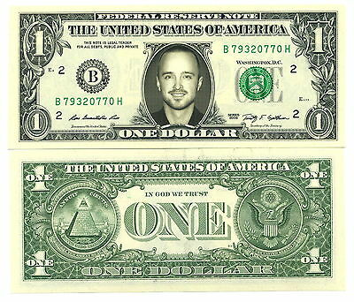 BREAKING BAD JESSY PINKMAN VRAI BILLET 1 DOLLAR US ! Aaron Paul Collection Série