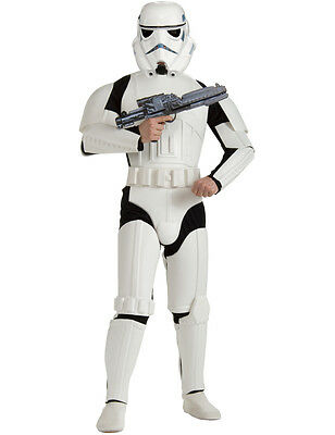 Adult Mens Deluxe Star Wars Stormtrooper Outfit Fancy Dress Costume