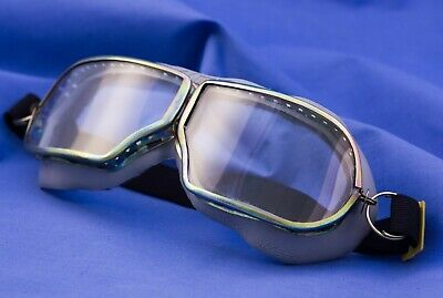 ORIGINAL OLD RARE VINTAGE SOVIET USSR AVIATOR PILOT GLASSES GOGGLES  in ORIGINAL