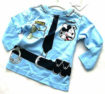 Baby Boys T.Shirts Cotton Long Sleeves Crew Neck Top MICKEY MOUSE 6 to 23 months