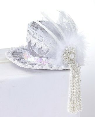 Mini Ghost Lace Top Hat HALLOWEEN Accessory