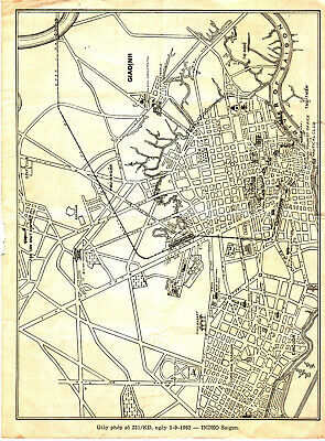 Street Map Saigon Vietnam 3-9-1963 + Old/New Names-Bi-lingual- Viet & French
