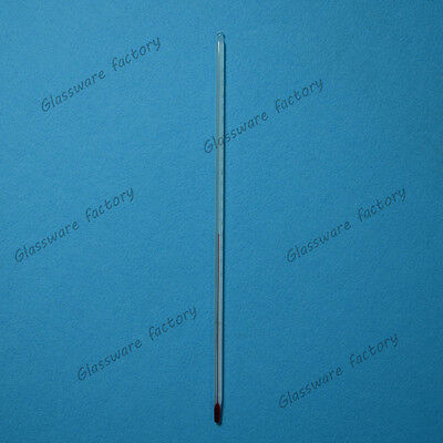 Glass rod Celsius thermometer,200 degree,300mm Length,Lab Glassware