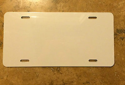 "10 Pieces ALUMINUM LICENSE PLATE SUBLIMATION BLANKS 6""x12"""