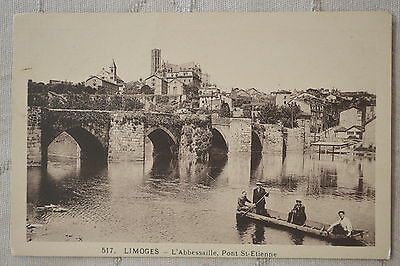 "CPA "" LIMOGES - L'Abbessaille, Pont St Etienne"