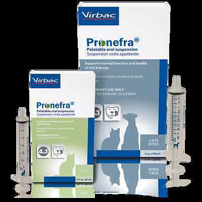 Pronefra 180ml phosphate binder helps appetite in cat & dogs with kidney failure