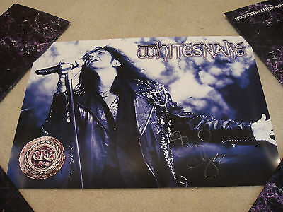 WHITESNAKE David Coverdale Signed 2015 Purple LIMITED ED.17x24 VIP Poster PROOF