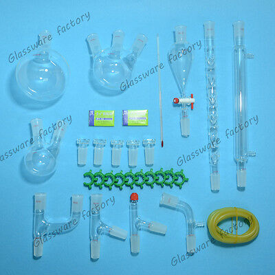 New advanced Chemistry Lab Glassware Kit,24/40 Ground Joint,29PCS,lab glass