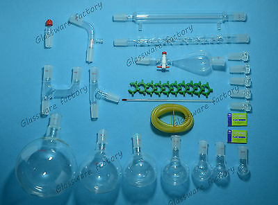32PCS,24/40,Organic Chemistry Glassware Kit,Laboratory Chemical kit,2000ml