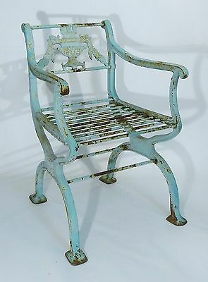 """""""Garland"""" EMPIRE CAST IRON GARDEN ARMCHAIR by W A Snow Boston 1925 Published"""