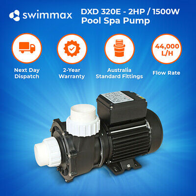 DXD 320E - 2HP /1.5kw Spa Pool Pump, 44,000 L/Hour, 2 Year Warranty, Leading OEM