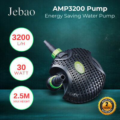 Jebao AMP 3200 L/Hour Amphibious Water Feature Pond Pump ONLY 30W Energy Saver