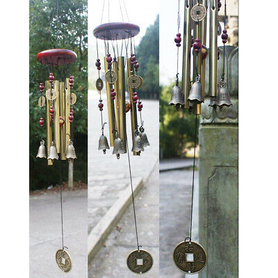 Home decor Amazing 4 Tubes 5 Bells Copper Yard Garden Outdoor Living Wind Chimes