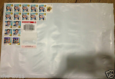 10 x 500g Parcel Post Satchels With Australia post Tracking 310x405mm $7.6