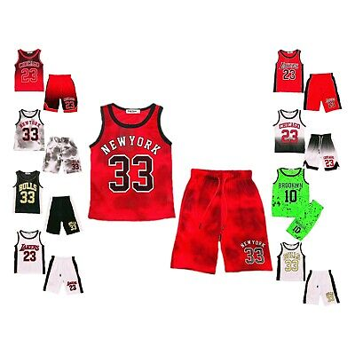 Football Summer Shorts Boys New Girls Top T-Shirt Vest Kit Set Size Age 3-14 Years BNWT