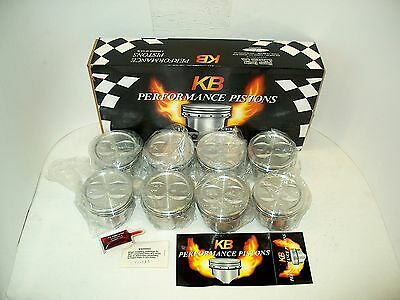 NEW SBC 383 STROKER Icon / KB Forged Dish Pistons IC9926-040 SB Chevy +040 Bore