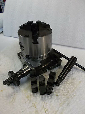 """4"""" Rotary Table W/ 3 Jaw Chuck **new** Pic#"""
