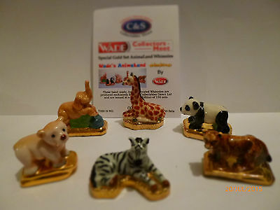 Wade- Special Gold Set Animaland Whimsies Le 150