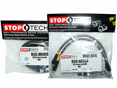 Stoptech Stainless Steel Braided Brake Lines (Front & Rear Set / 46005+46504)