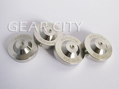 nxp04 4x 39x12mm Stainless Steel Speaker Spike Base Pad Isolation Cone Feet HiFi