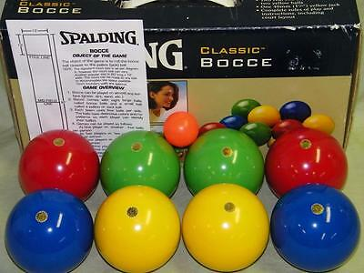 Spalding Classic Bocce Set, Made in Italy, 90mm Wood Composite balls