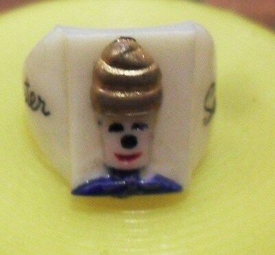 """Vintage 1950s"""" Mister Softee"""" Ring  Ice Cream Truck Advertising Giveaway Prize"""