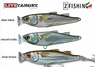 ESCA ARTIFICIALE CEFALO POPPER MULLET LIVETARGET spinning serra lecce mare lure