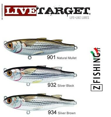 ESCA ARTIFICIALE CEFALO MULLET LIVETARGET TWITCHBAIT mare spinning serra leccia