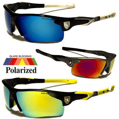 Polarized Mirror Lens Mens Fishing Cycling Baseball Sport Wrap Sunglasses US s