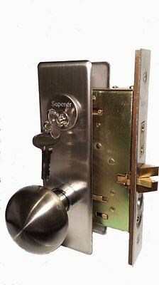 Maxtech Mortise Lock Lockset Satin Nickel Polished Brass Knob Style Left / Right