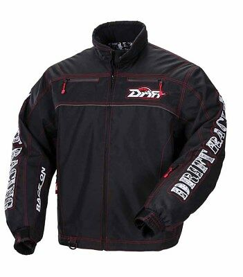Drift Racing Commander Snowmobile / Winter Jacket with Liner - Black 5255-17*