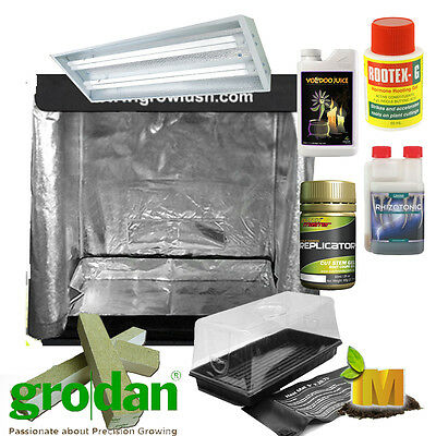 Propagation Grow Light Tent Heat Mat Cloning Kit Grodan Grow Cube Root Juice Gel