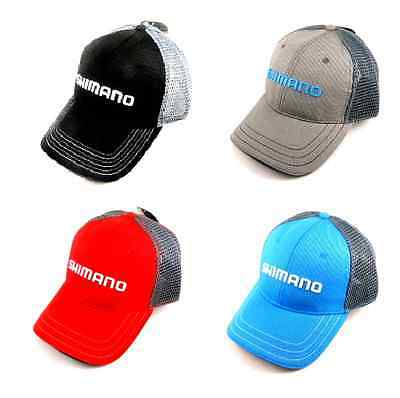 Shimano Q3 Adjustable Embroidered Logo Cap Hat Grey Black Cyan Red Select Color