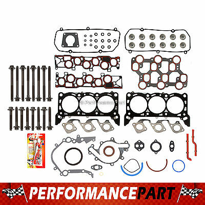 Full Gasket Set Head Bolts 01-04 Ford Mustang 3.8 &3.9 OHV 12V VIN 4, 6
