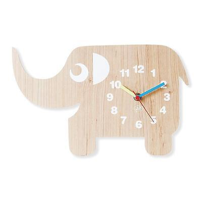 NEW iS Gift JIP Wooden Childrens Wall Clock - Ellie The Elephant