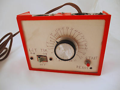 Rare Homemade UNIQUE DARKROOM TIMER Photography Red
