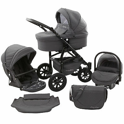 Ferriley & Fitz Easy One Kombi Kinderwagen 3in1 XXL Set Babywanne Buggy
