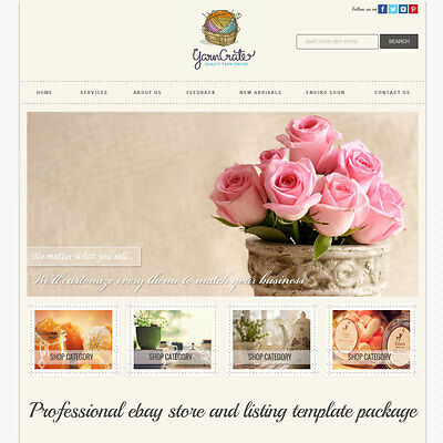 Professional Ebay Store and Listing Template banner slider mobile optimized