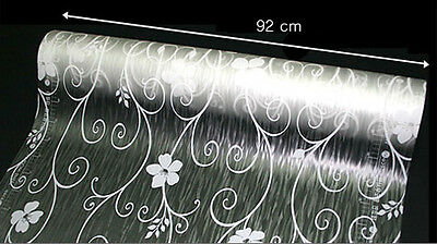 Removable Frosted Frosting Frost Window Film Privacy Flower Damask  92cm /m