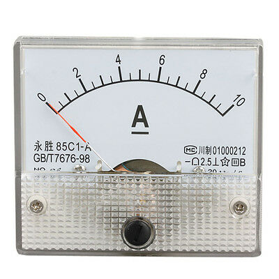 New DC 0-10A Pointer Type Analog Table Ampere Panel Meter Current Amp Ammeter UK