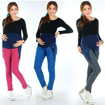 New Pregnant Women Casual Sports Pants Pregnant Women Adjust Prop Belly Pants