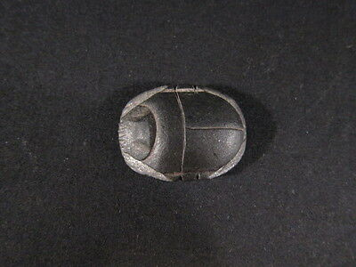 Superb ancient Egyptian late period black stone scarab